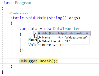 Default Debugger View