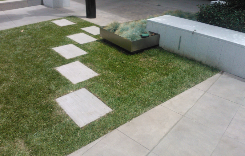 desire line fixed by paving slabs