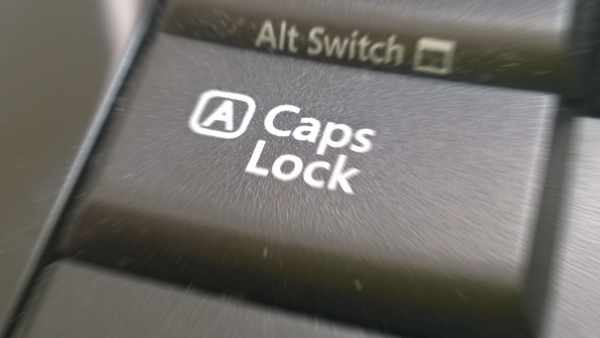 capslock key on a keyboard