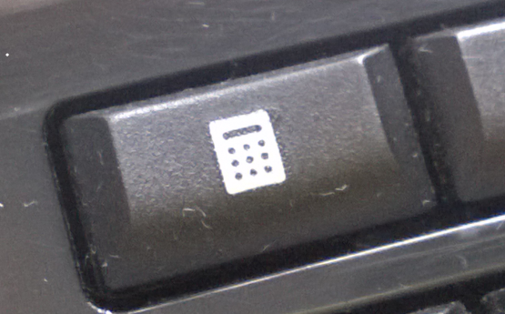 image of the calculator key on my keyboard