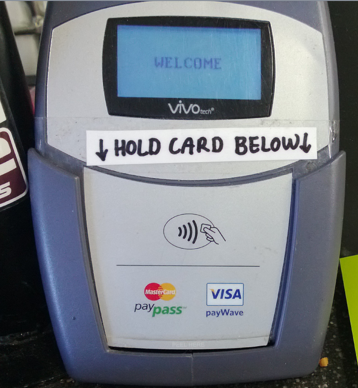 Contactless payment machine photograph