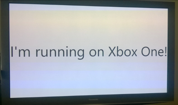 UWP app running on Xbox One