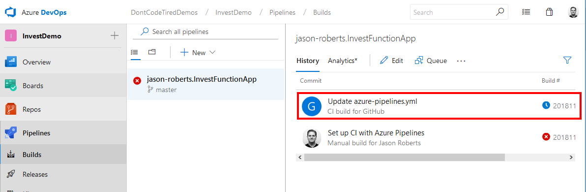 Azure Pipeline Build Running
