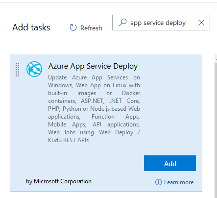 Deploying a Function App using the Azure App Service Deploy task