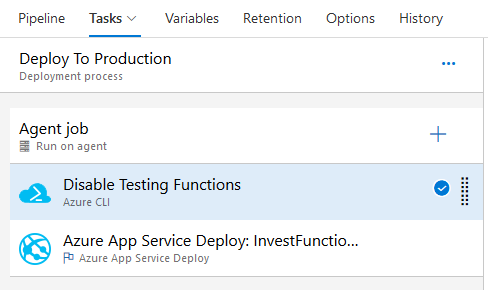 Azure release pipeline stage tasks