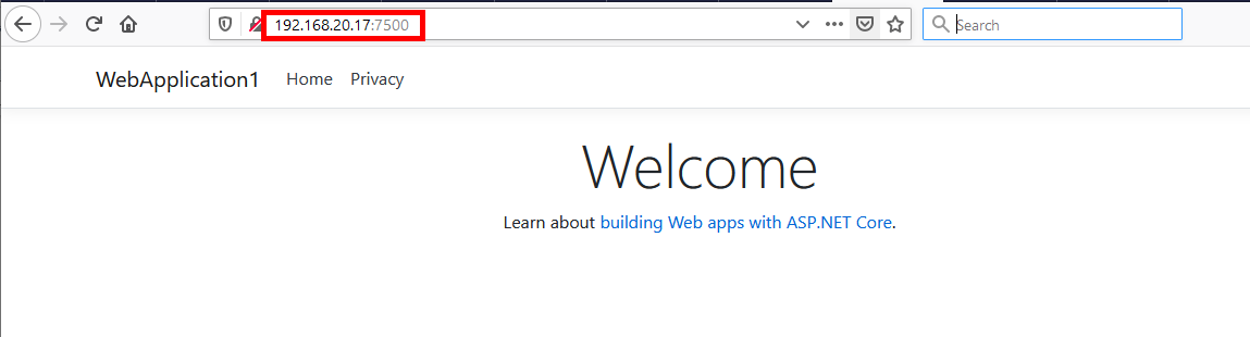 ASP.NET Core Web App running in a Docker container on a Synology NAS