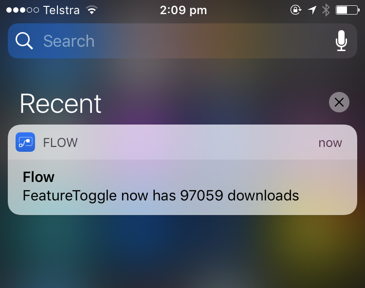 iOS Flow App Notification