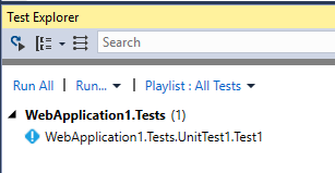 Visual Studio Test Explorer