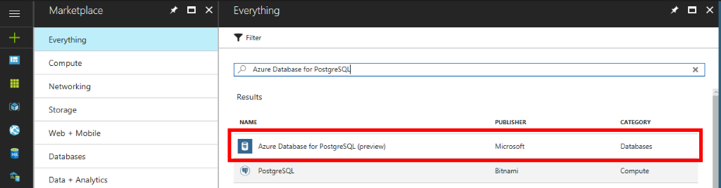 Creating a PostgreSQL Azure Server